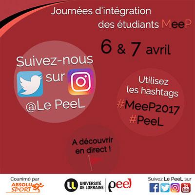 Vivez en direct les journées d'intégration du parcours MeeP 2017 sur Twitter et Instagram !